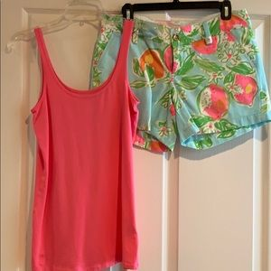 Shorts size 6 and top size med.